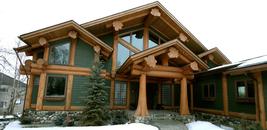 Log Post & Beam Home | Derks Construction