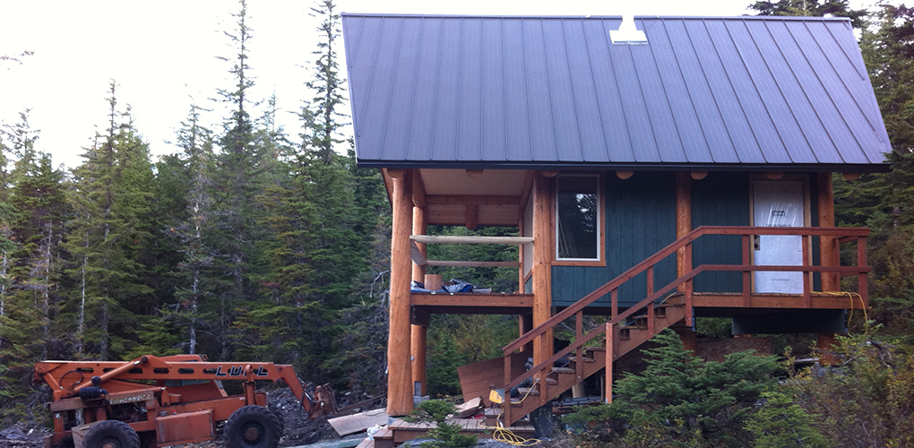 Latouche island remote cabins derks construction for Building a cabin in alaska